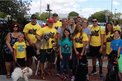 The DP Management staff and their family members  at the 2016 Nebraska Humane Society Walk for the Animals.