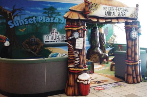 Sunset Plaza play area for Faith Regional